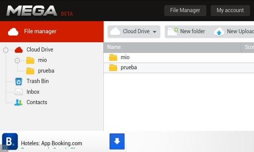 تطبيق خدمة Mega على الاندرويد