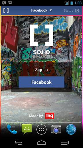 SOHO Social Launcher لانشر المواقع الاجتماعية